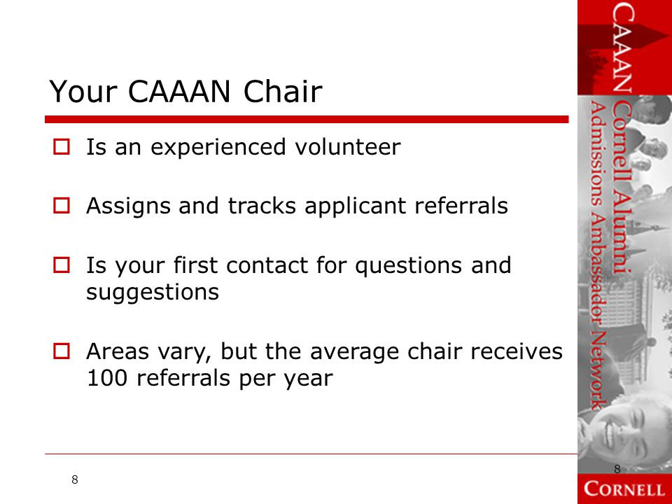 Your CAAAN Chair Is an experienced volunteer