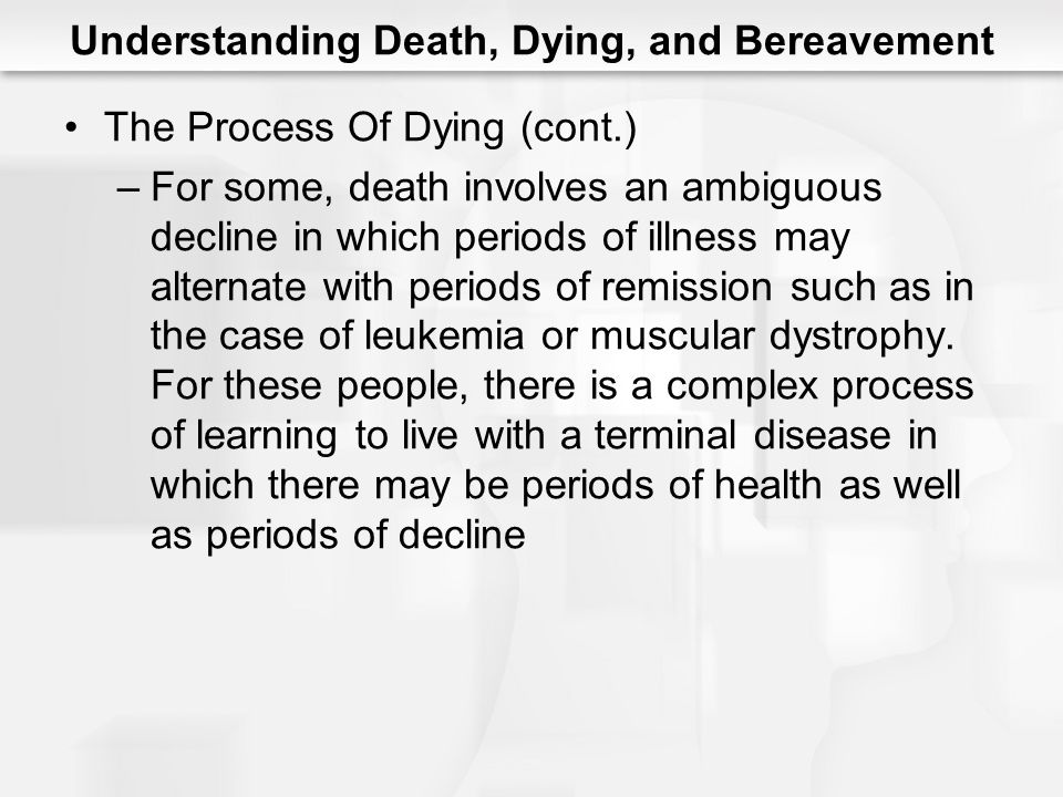 case research fatality not to mention dying