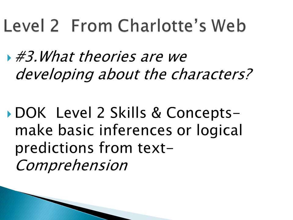 Level 2 From Charlotte's Web