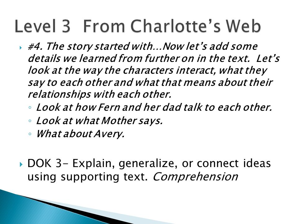 Level 3 From Charlotte's Web