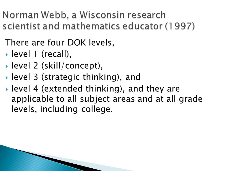 Norman Webb, a Wisconsin research scientist and mathematics educator (1997)