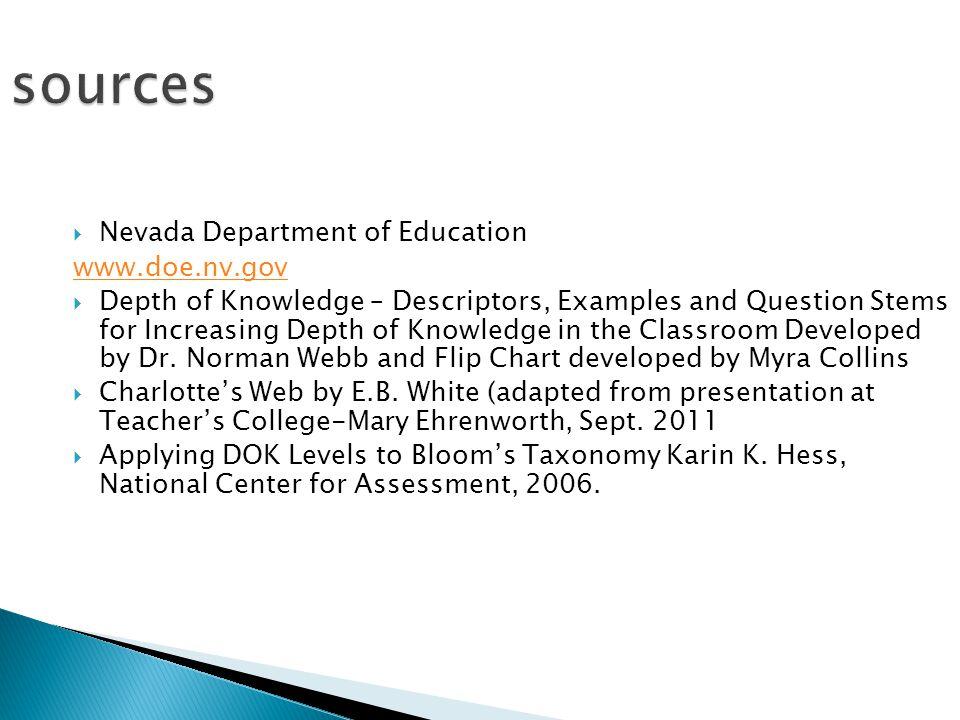 sources Nevada Department of Education www.doe.nv.gov