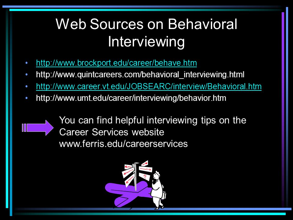 Web Sources on Behavioral Interviewing