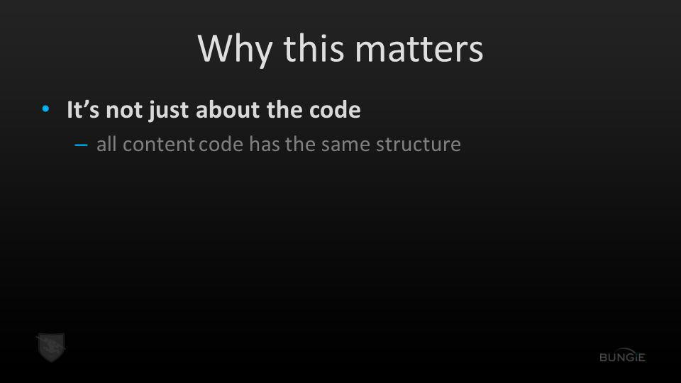 Why this matters It's not just about the code