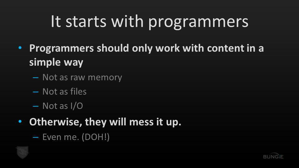 It starts with programmers