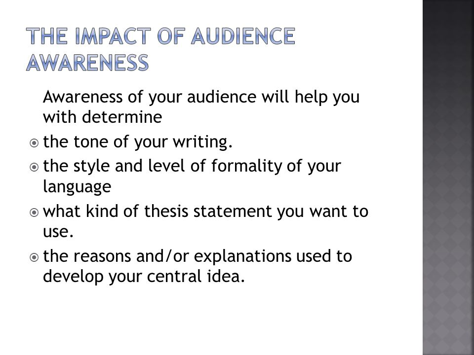The Impact of Audience Awareness