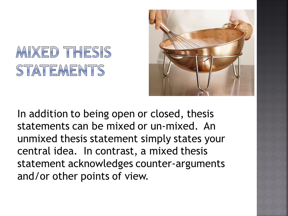 forecasting statement thesis