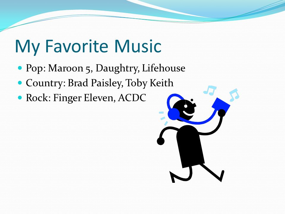 My Favorite Music Pop: Maroon 5, Daughtry, Lifehouse