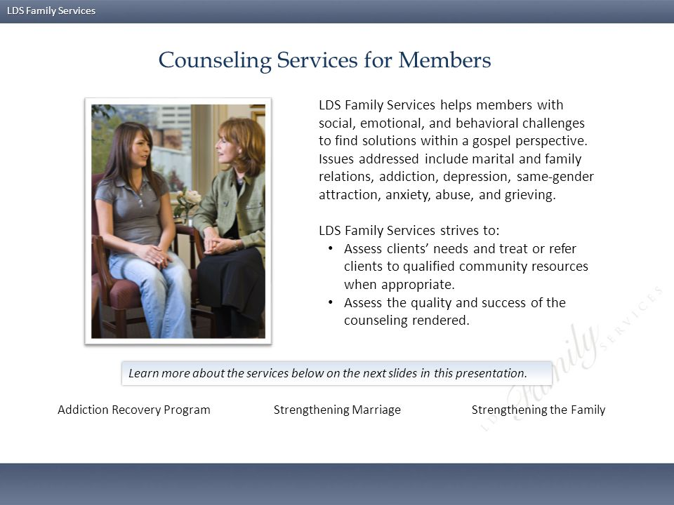 Counseling Services for Members