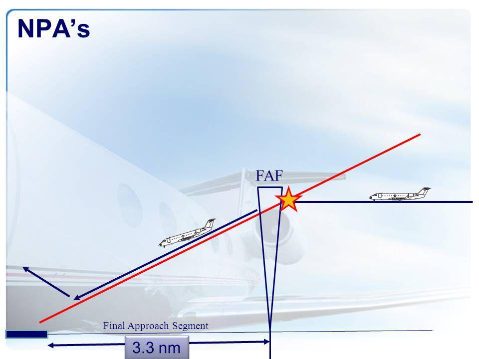 NPA's FAF Final Approach Segment 3.3 nm