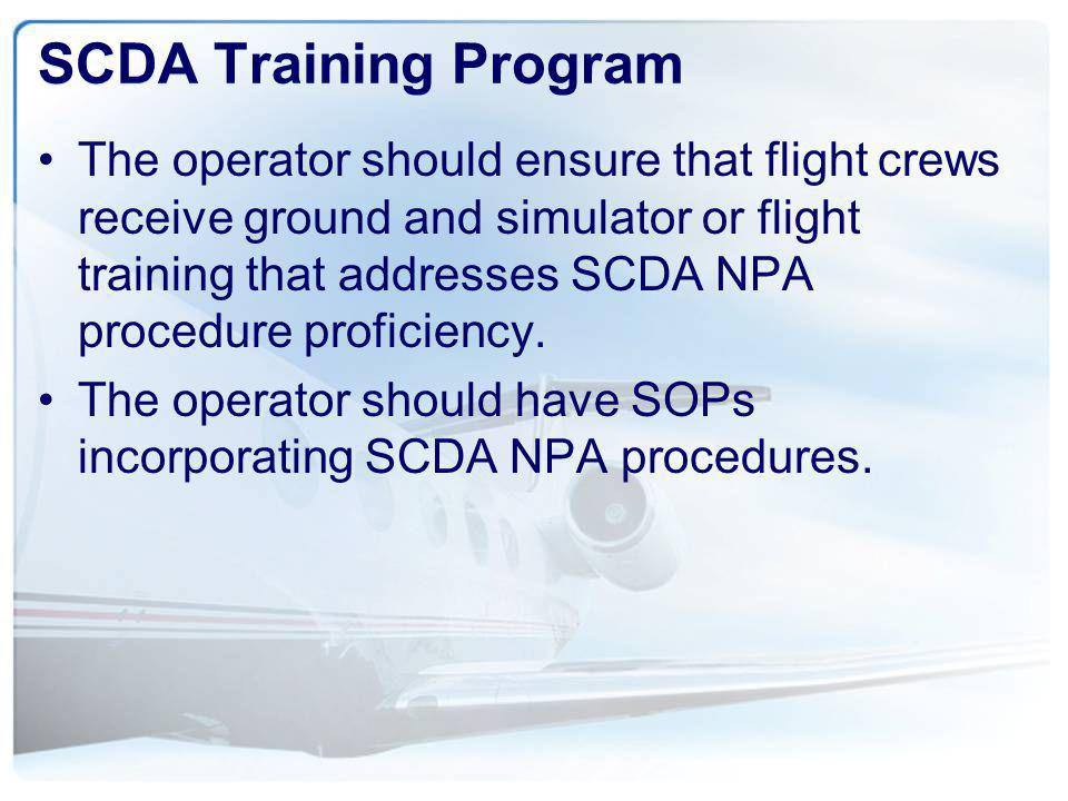SCDA Training Program