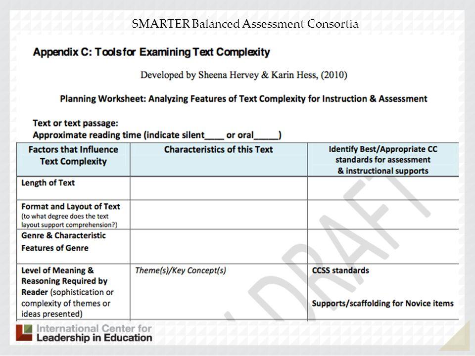 SMARTER Balanced Assessment Consortia