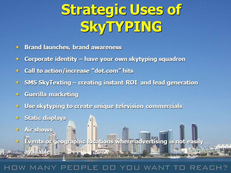 Strategic Uses of SkyTYPING