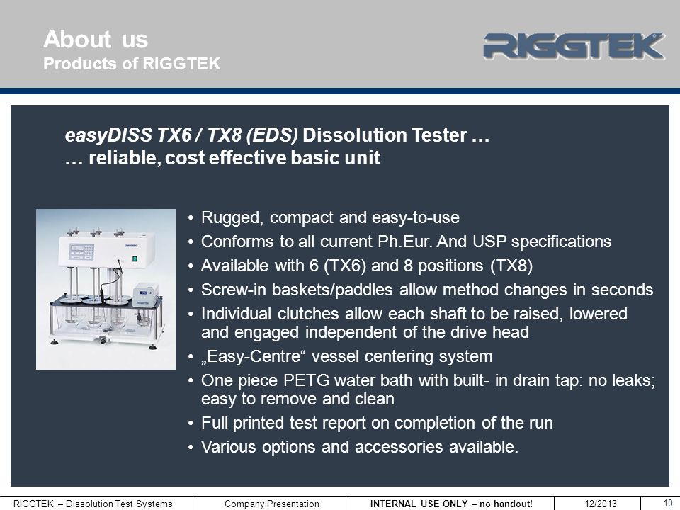 About us easyDISS TX6 / TX8 (EDS) Dissolution Tester …