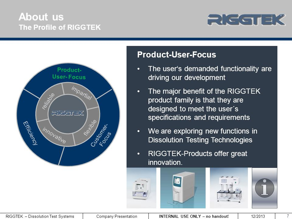 About us Product-User-Focus The Profile of RIGGTEK