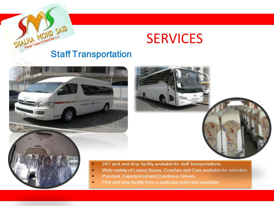 SERVICES Staff Transportation