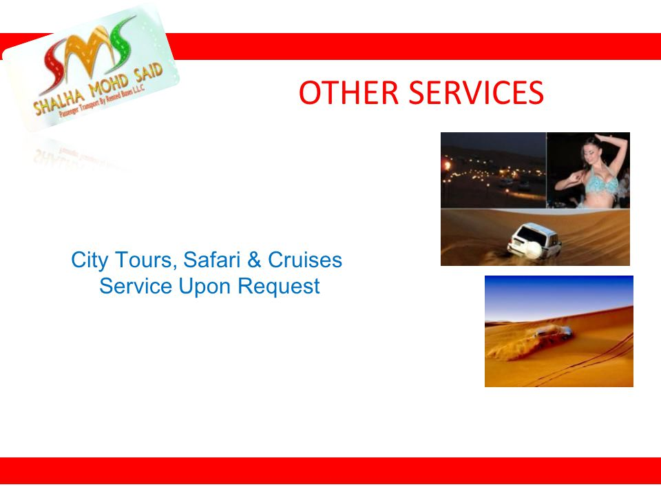 City Tours, Safari & Cruises
