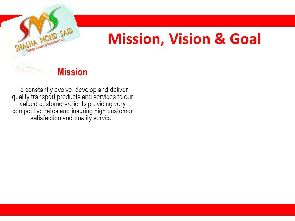 Mission, Vision & Goal Mission