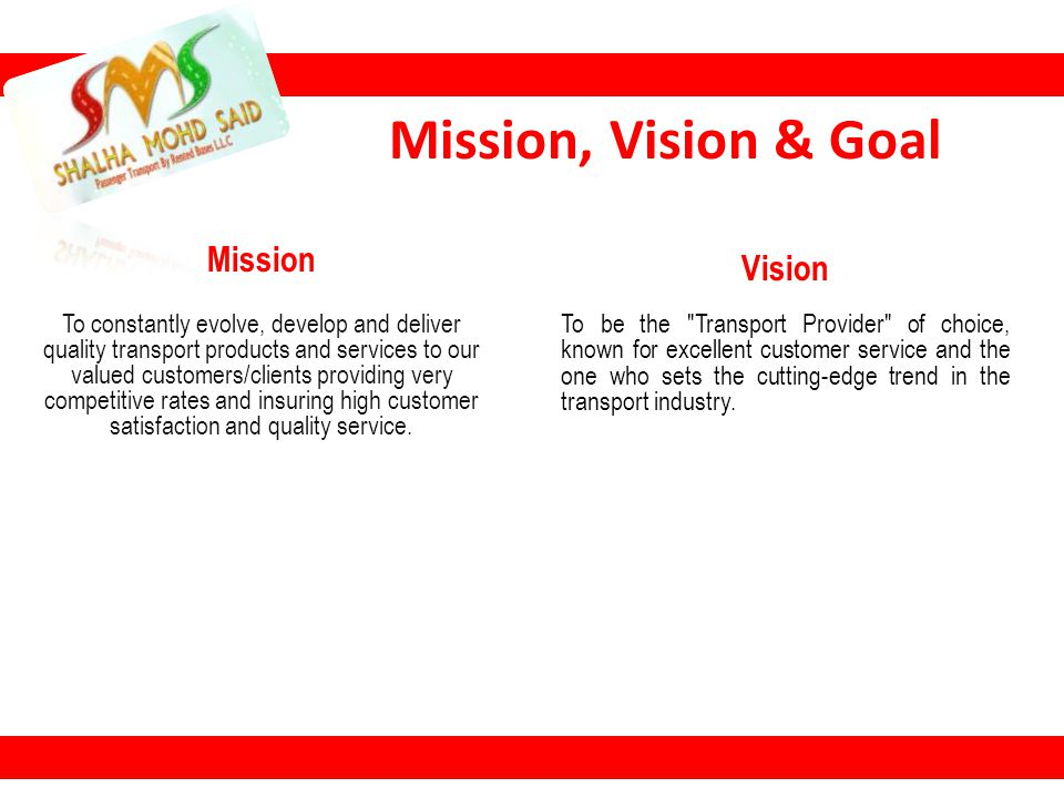 Mission, Vision & Goal Mission Vision