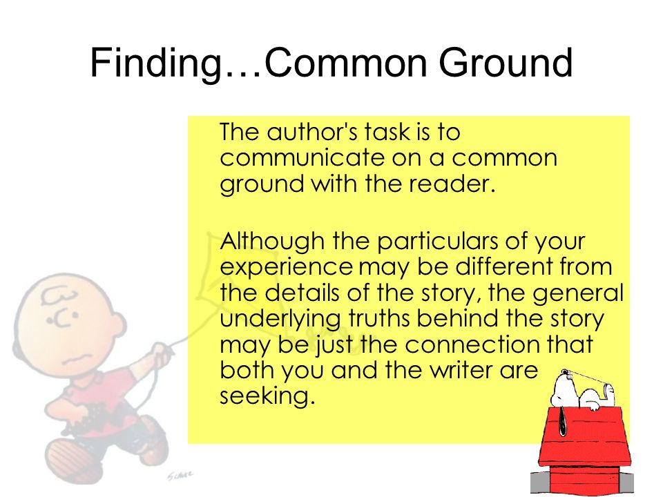 Finding…Common Ground