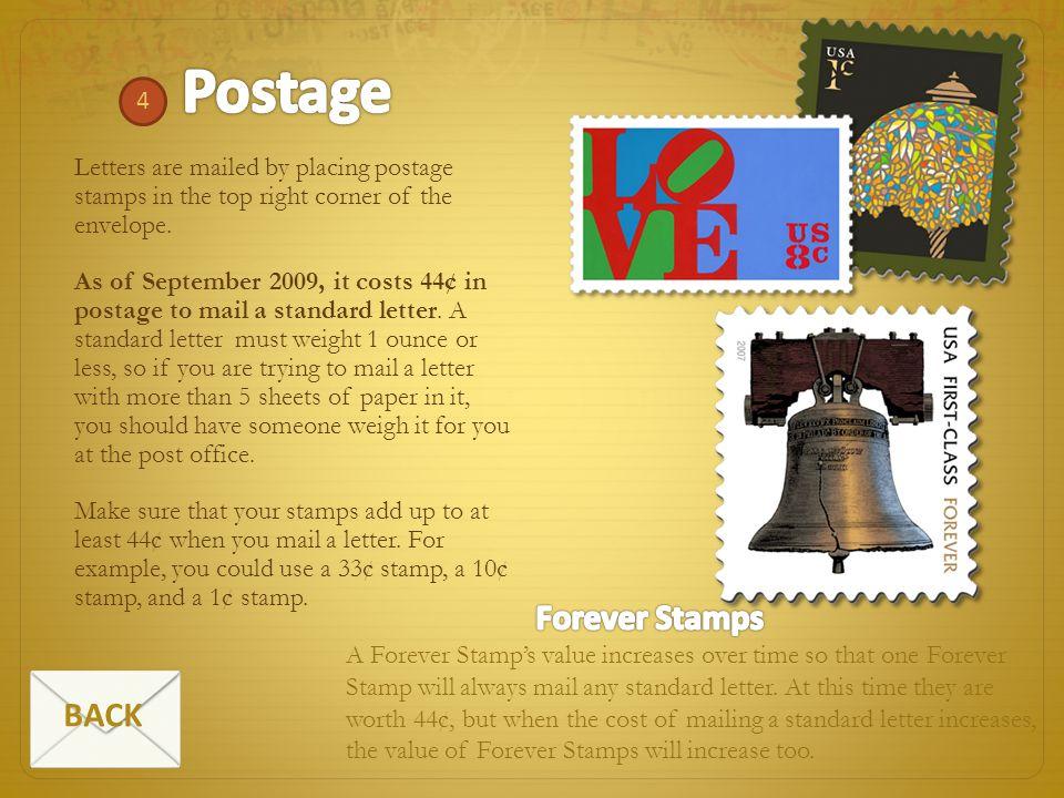 Postage Forever Stamps BACK 4