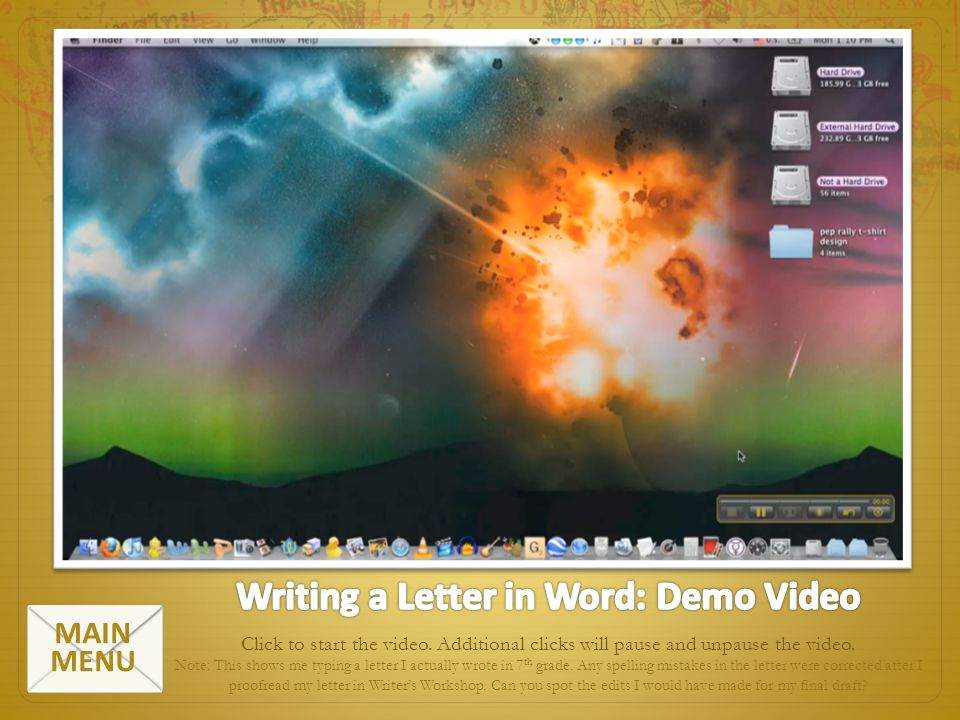 Writing a Letter in Word: Demo Video