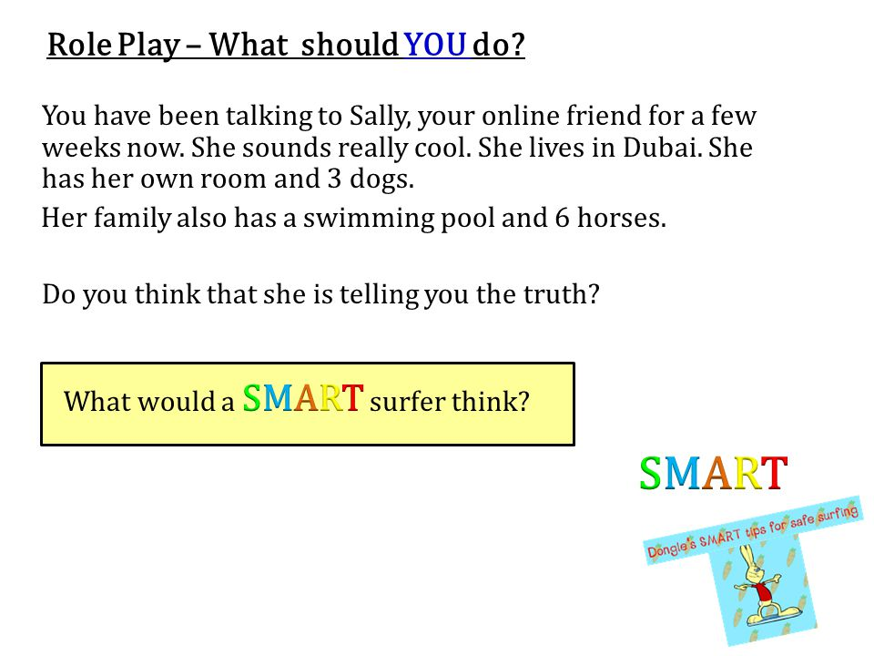 SMART Role Play – What should YOU do