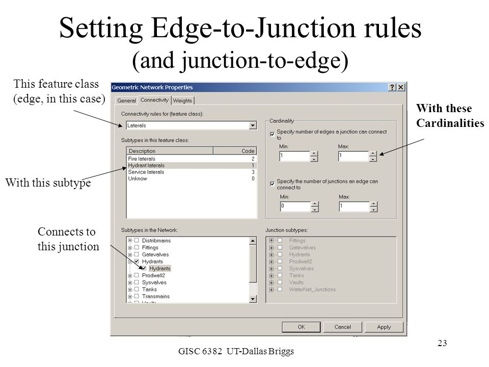 Setting Edge-to-Junction rules (and junction-to-edge)