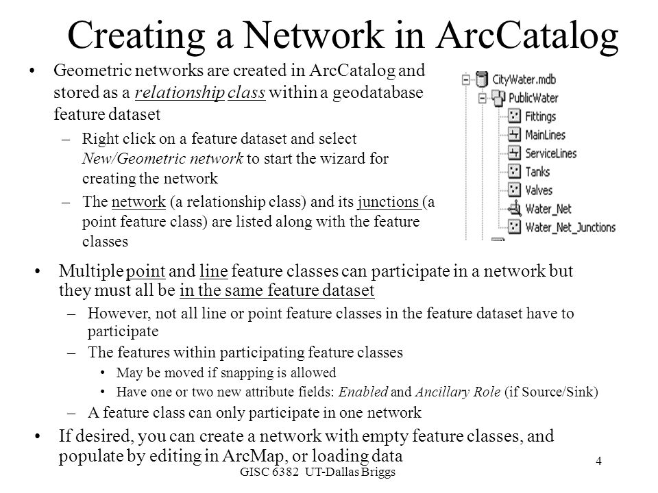 Creating a Network in ArcCatalog