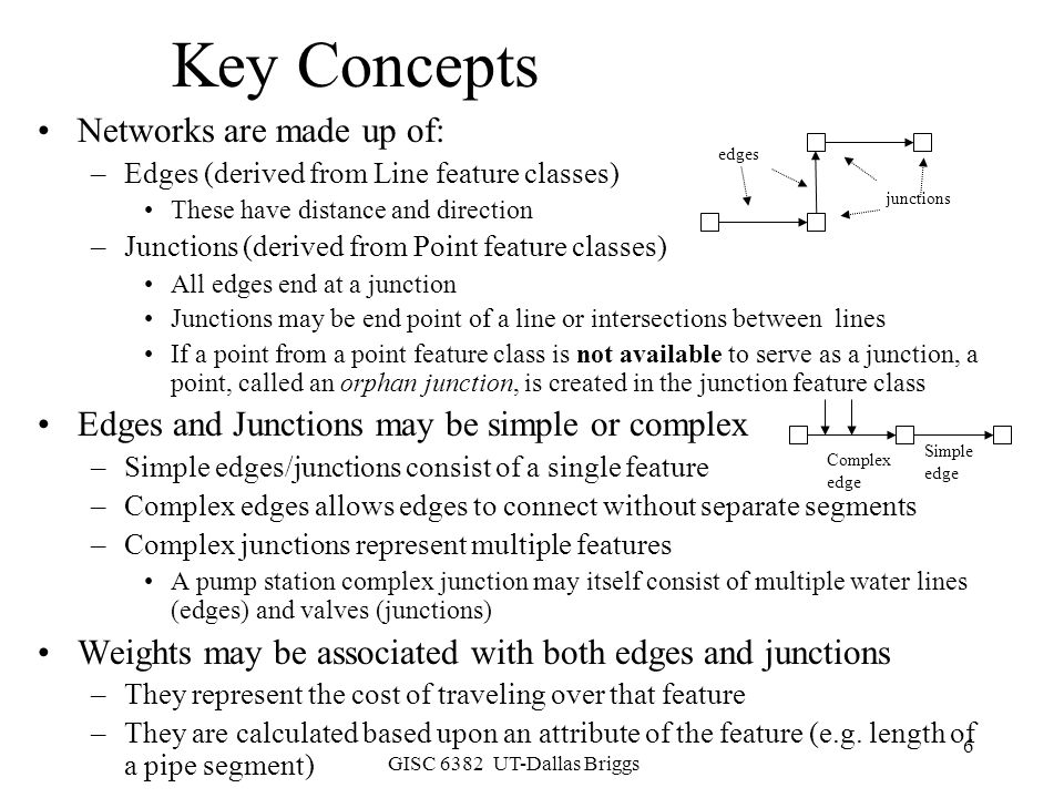 Key Concepts Networks are made up of: