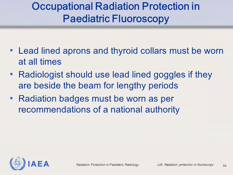 Occupational Radiation Protection in Paediatric Fluoroscopy