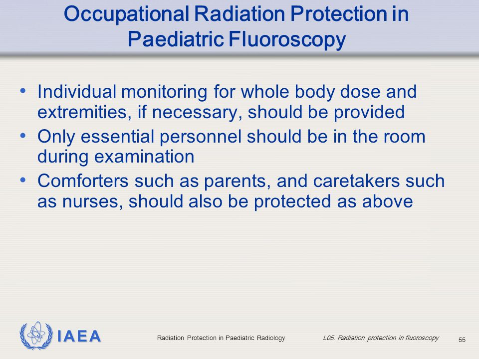 Occupational Radiation Protection in Paediatric Fluoroscopy