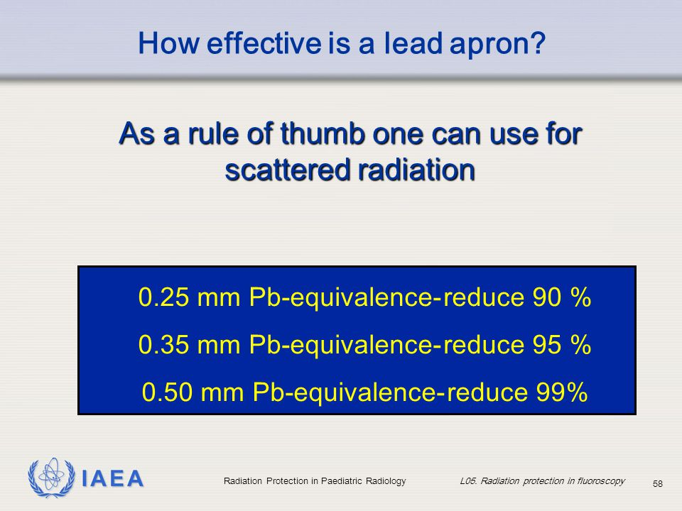 How effective is a lead apron