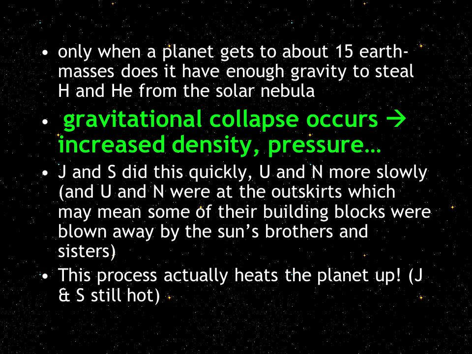 only when a planet gets to about 15 earth-masses does it have enough gravity to steal H and He from the solar nebula