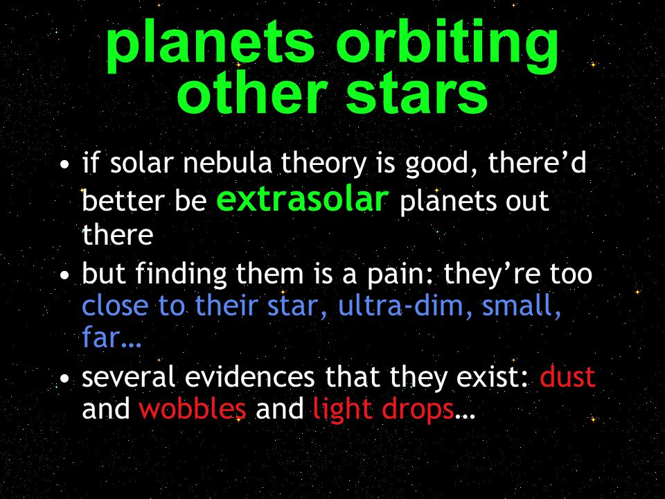 planets orbiting other stars