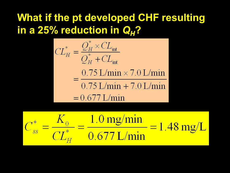 What if the pt developed CHF resulting in a 25% reduction in QH