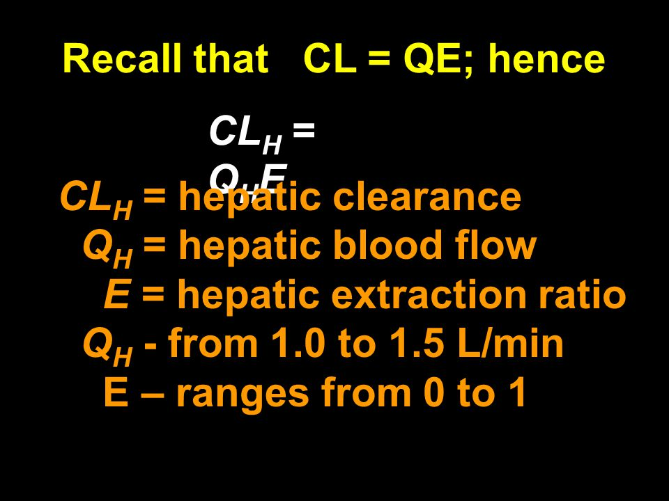 Recall that CL = QE; hence