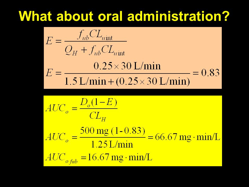 What about oral administration