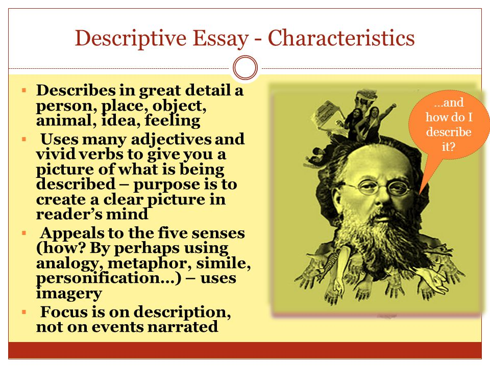 characteristics of analogy essays It's the same with writing with any given group of ideas and details, you might use any of a number of principles of organization, and.
