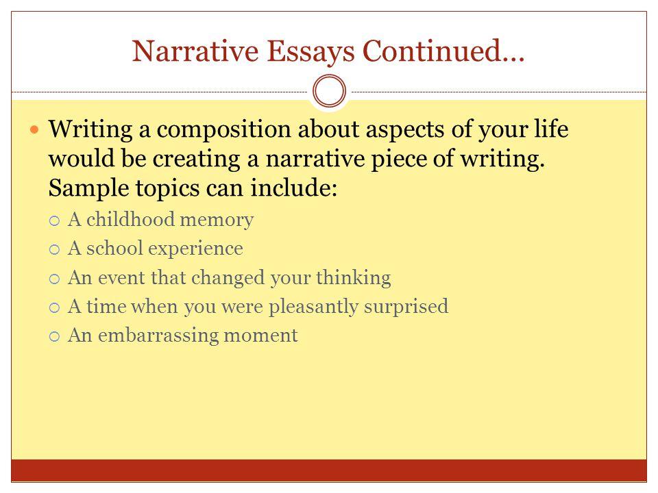 Narrative Essay On Life Changing Moments How  Mental Health Essays also High School Argumentative Essay Topics  Position Paper Essay