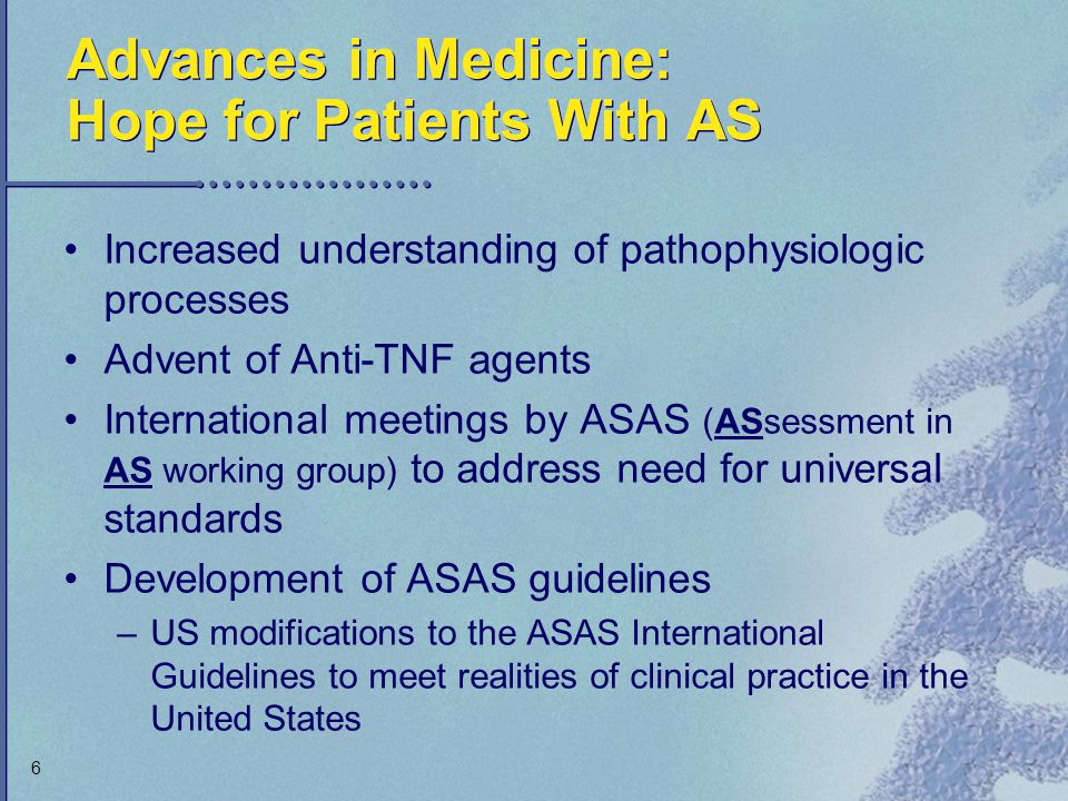 Advances in Medicine: Hope for Patients With AS