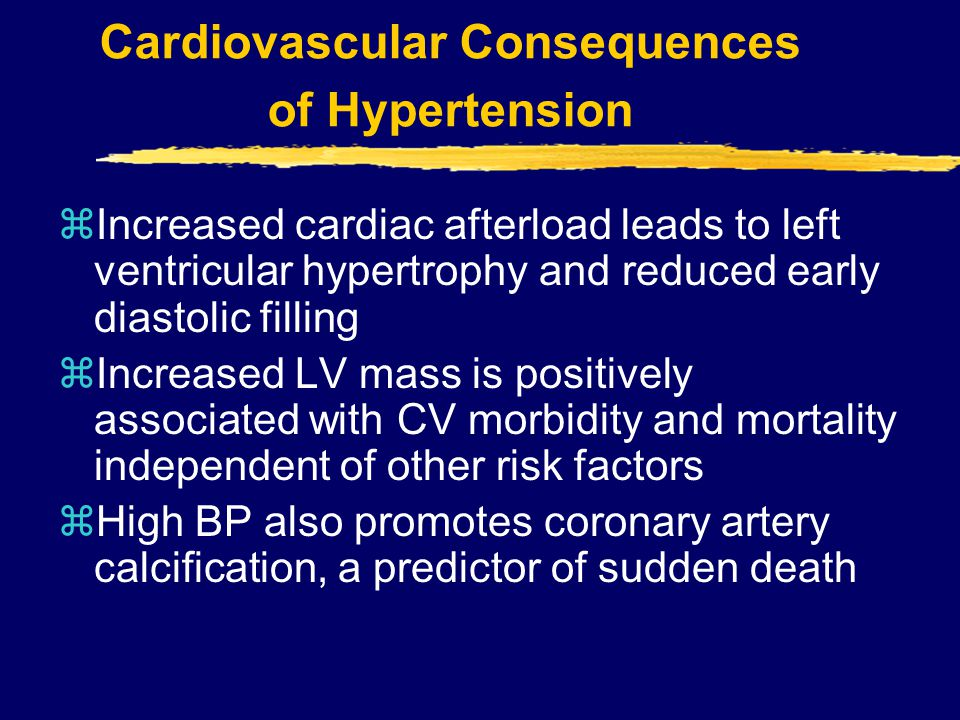 Cardiovascular Consequences of Hypertension