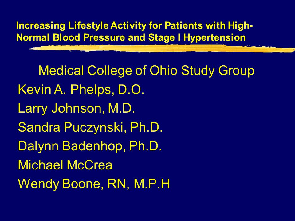 Medical College of Ohio Study Group