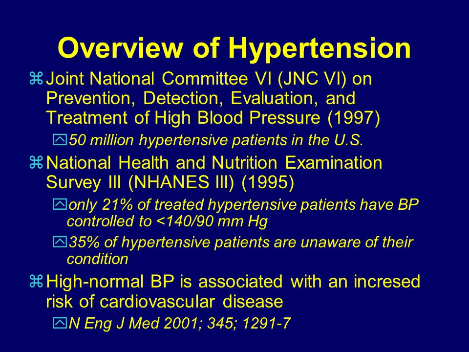 Overview of Hypertension