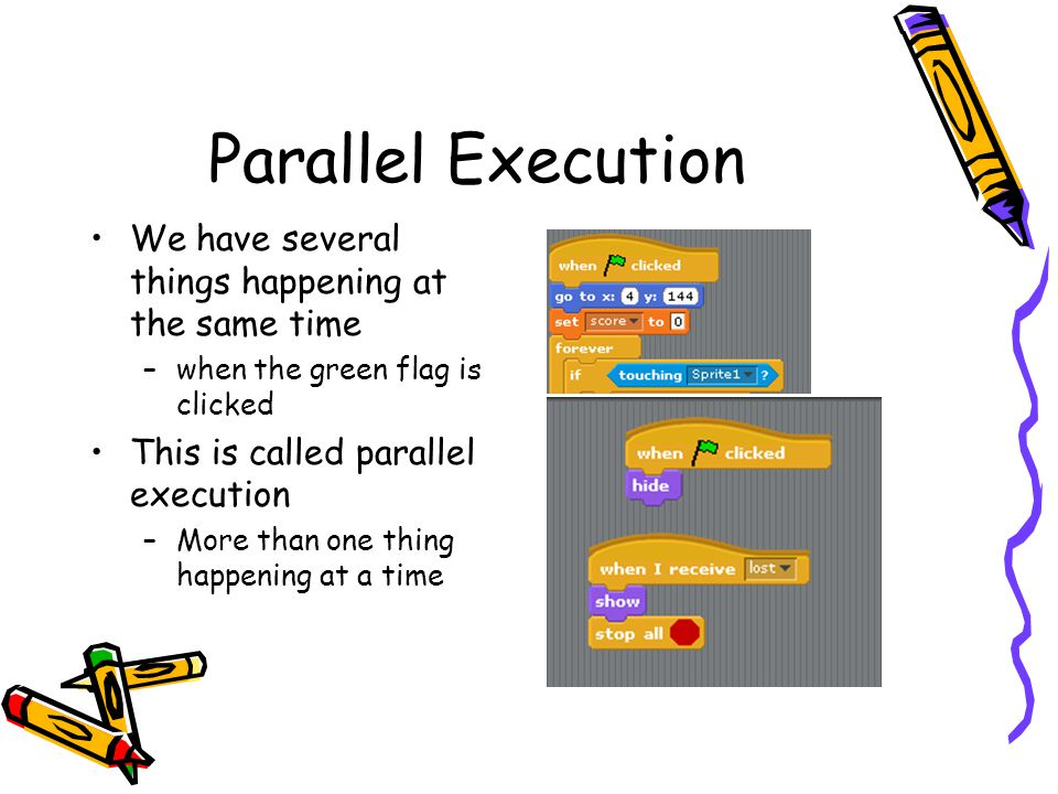 Parallel Execution We have several things happening at the same time