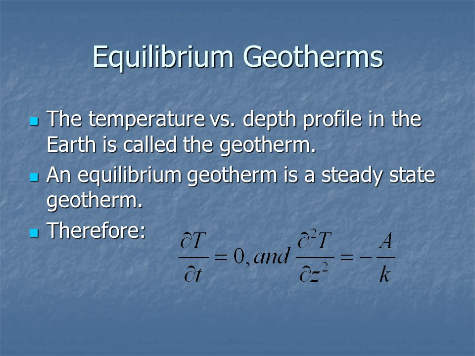 Equilibrium Geotherms
