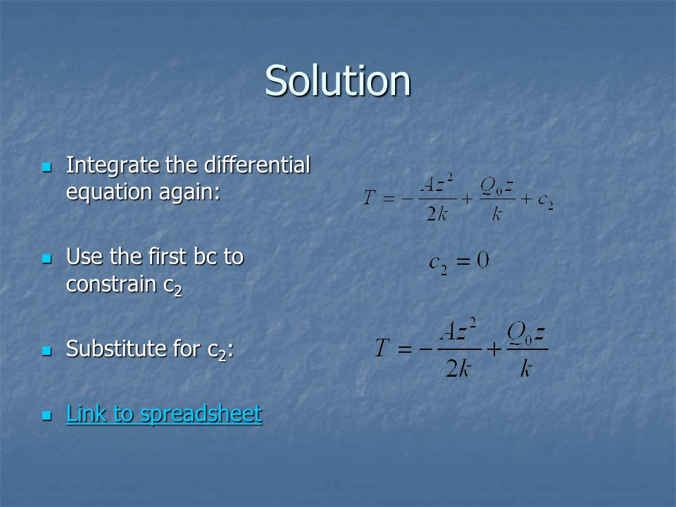 Solution Integrate the differential equation again: