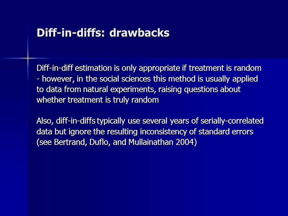 Diff-in-diffs: drawbacks