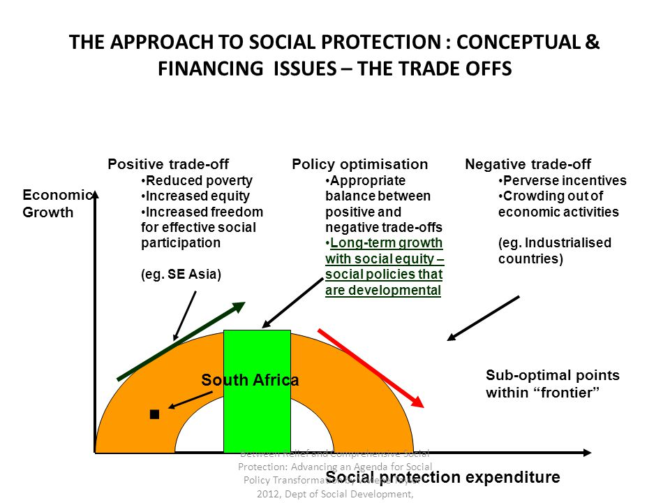 THE APPROACH TO SOCIAL PROTECTION : CONCEPTUAL & FINANCING ISSUES – THE TRADE OFFS
