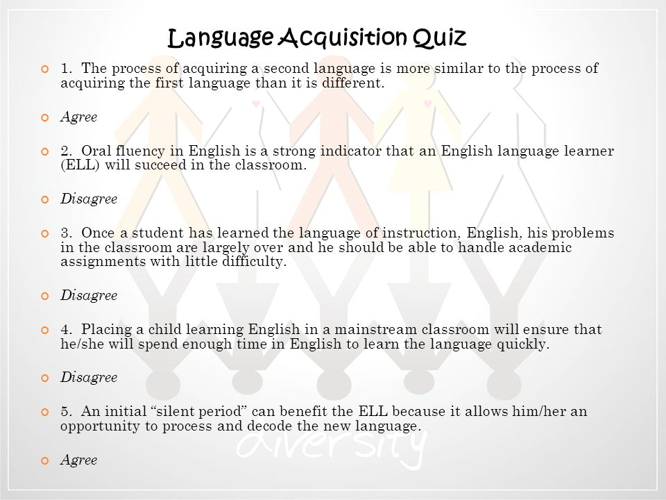 Language Acquisition Quiz